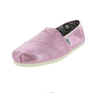 NWOT TOMS GLITTER  classics  casual  shoes size 6
